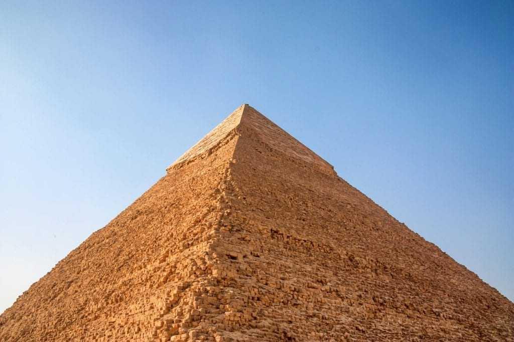 Pyramid of Khafre in Giza, Egypt